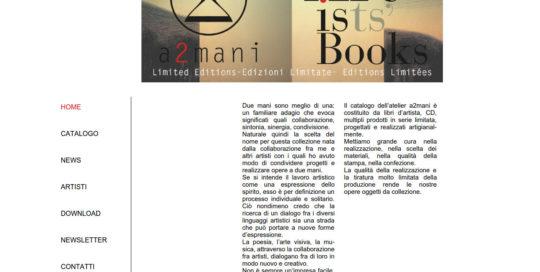a2mani Books di Cesare Reggiani e altri artisti