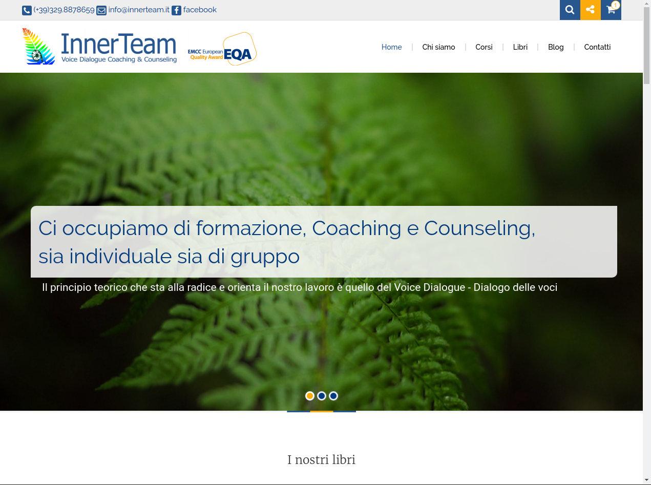 Realizzazione sito scuola innerteam con E-commerce
