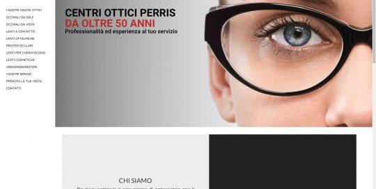 Centri Ottici Perris: web design