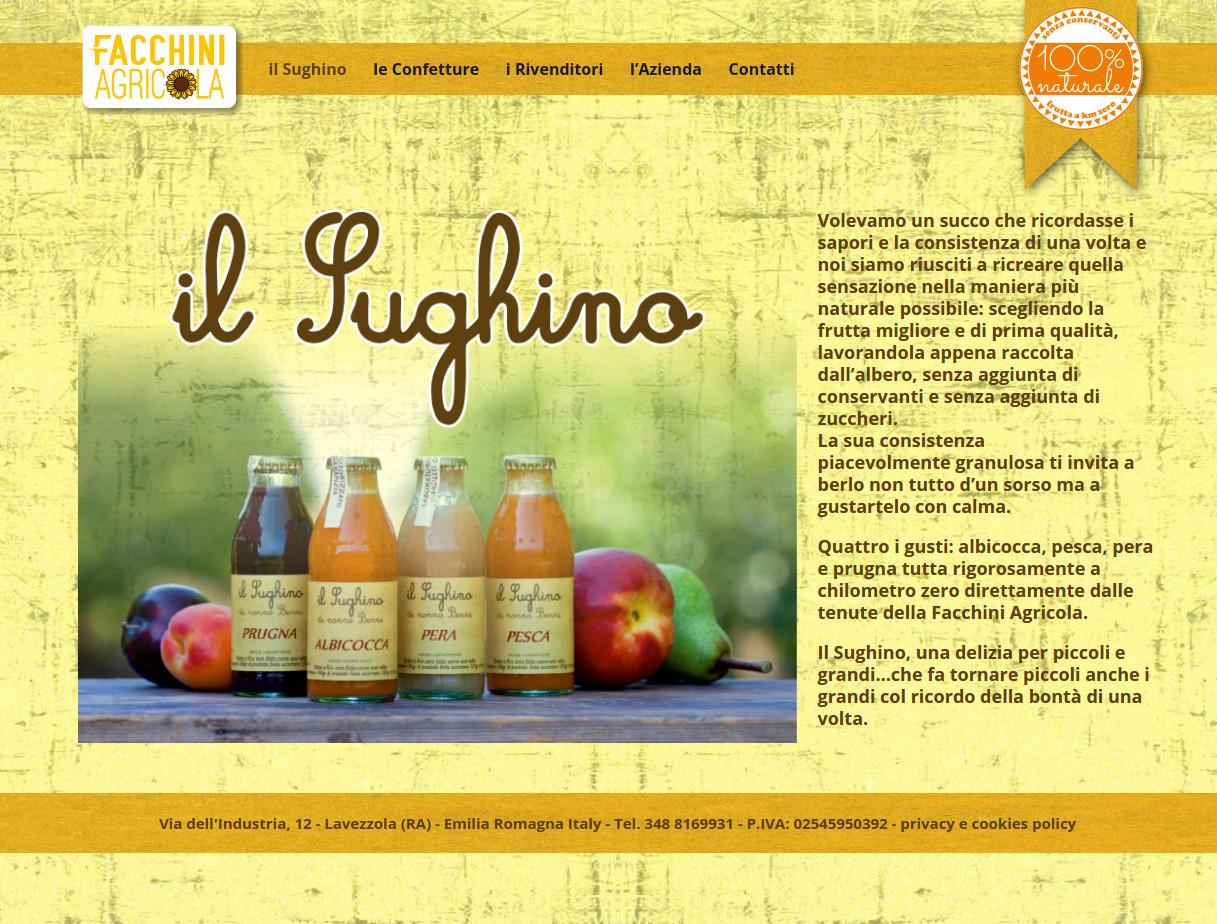 Sito Facchini Agricola: wordpress