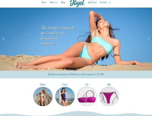 Sito e-commerce Joyel-beachwear