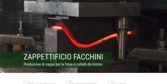 Realizzazione web design sito Zappettificio Facchini