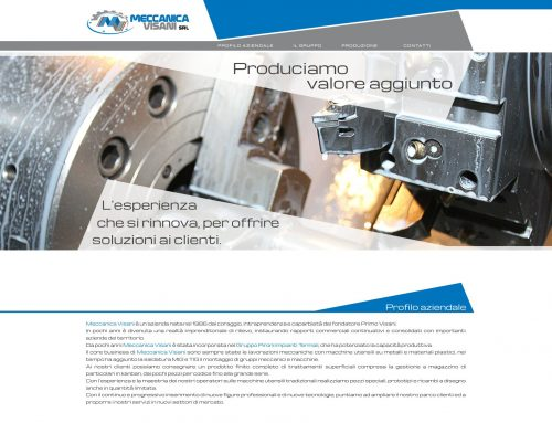Sviluppo sito Meccanica Visani